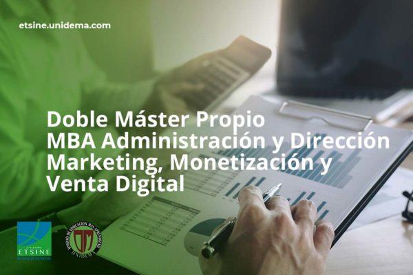doble mba y marketing monetización y venta digital unidema etsine