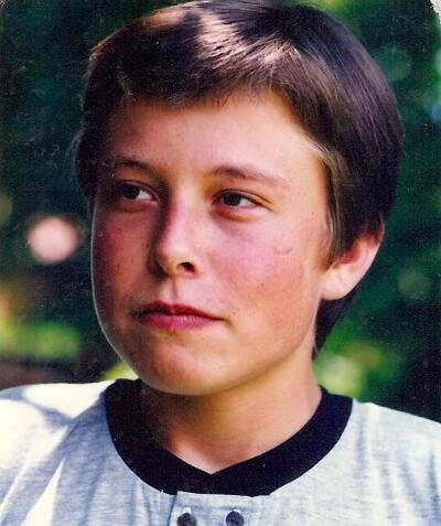 Elon Musk de joven
