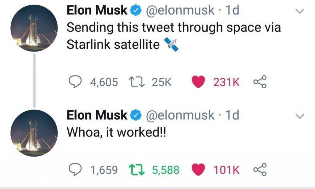 elon musk primer tweet starlink