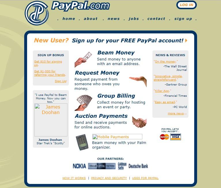 paypal primera web como era paypal inicio elon musk